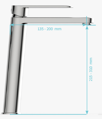 XXL ( recomendado para lavabos de sobreponer > de 38cm de altura )
