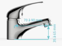 XS ( recomendado para lavabos de ancho entre 45cm a 60cm)