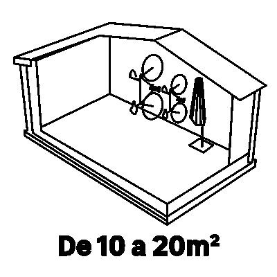 10 - 20m²