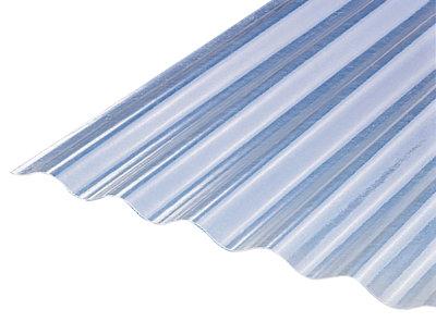 Placa de poliéster translúcido de 0.7 mm de 250x90 cm