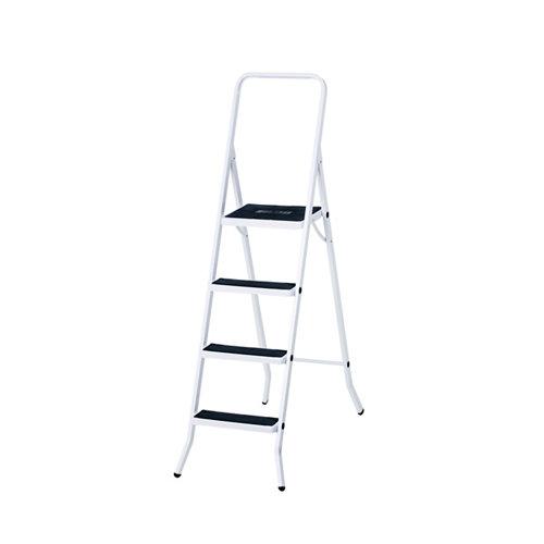 Escalerillaescalera de uso doméstico de acero y 4 peldaños