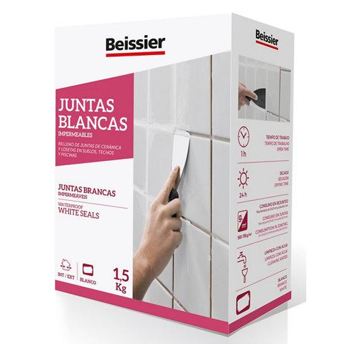 Plaste para juntas blancas impermeable beissier 1,5 kg