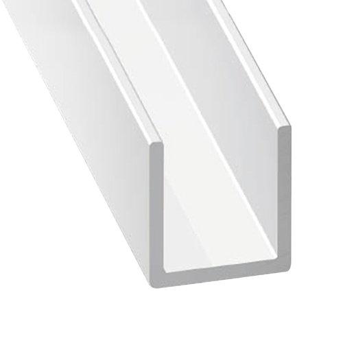 Perfil forma u de aluminio lacado lacado