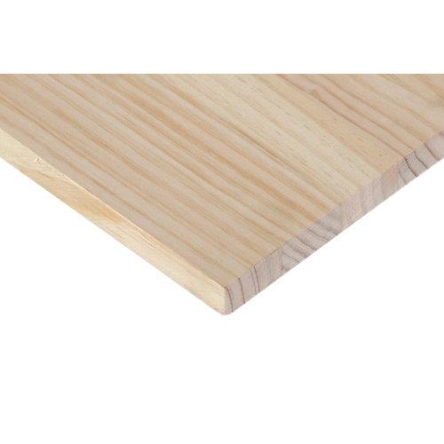 Tablero macizo de pino de 20x80x1,8 cm
