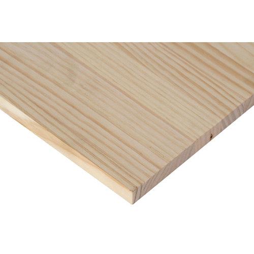 Tablero macizo de pino de 25x80x1,8 cm