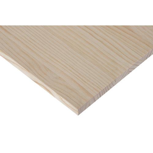 Tablero macizo de pino de 30x80x1,8 cm