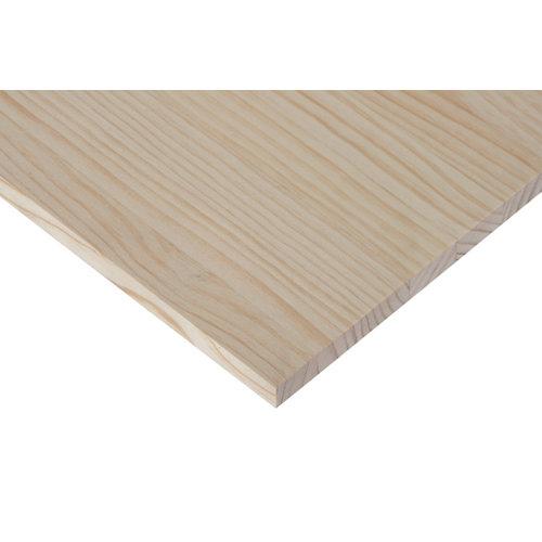 Tablero macizo de pino de 20x120x1,8 cm
