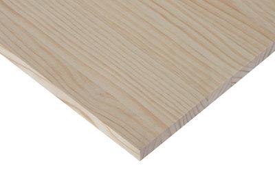 Tablero macizo de pino de 30x120x1,8 cm