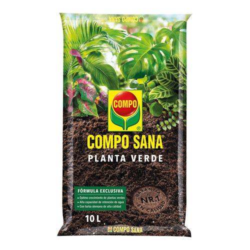 Sustrato para plantas verdes y palmeras compo sana 10l