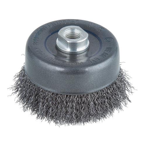 Cepillo para amoladora wolfcraft para limpiar múltiples materiales