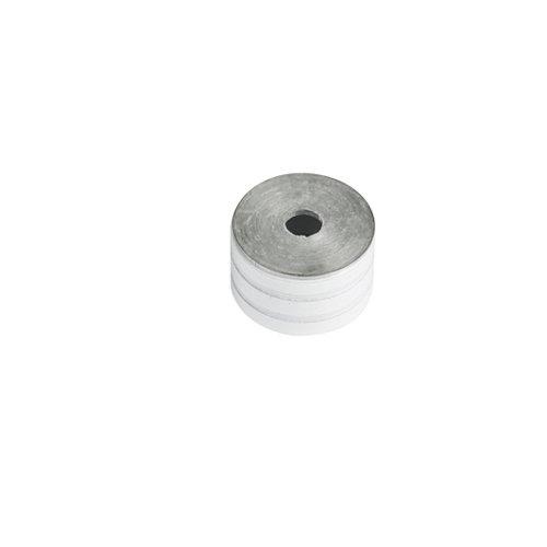 Soporte y remate para barra de armario lateral spaceo de aluminio blanco