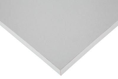 Tablero aglomerado con 4 cantos blanco de 29,5x80x1,6 cm (anchoxaltoxgrosor)