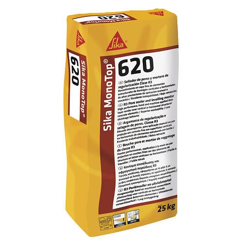 Mortero de reparación sika monotop 620 gris capa fina 25 kg