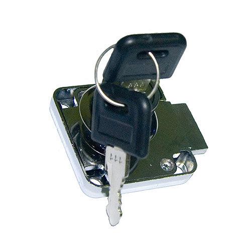 Cerradura de mueble en acero gris / plata con llave