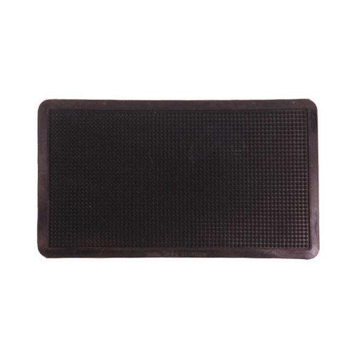 Felpudo negro de caucho 40 x70 cm
