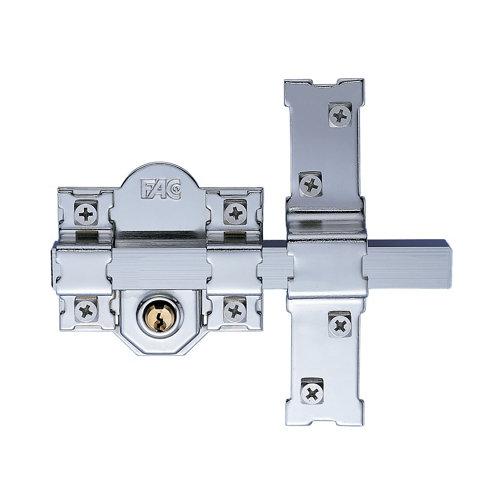 Cerrojo de seguridad llave de 80 mm ancho gris plata
