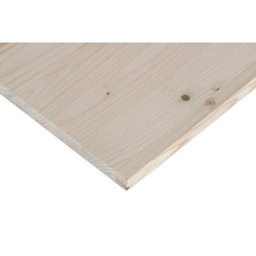 Tablero macizo de abeto de 30x120x1,8 cm