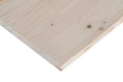 Tablero macizo de abeto de 30x200x1,8 cm