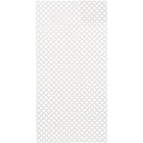 Celosía fija de pvc privat blanco 200x100 cm