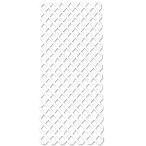 Celosía fija de polipropileno blanco inter clasic 200x100 cm