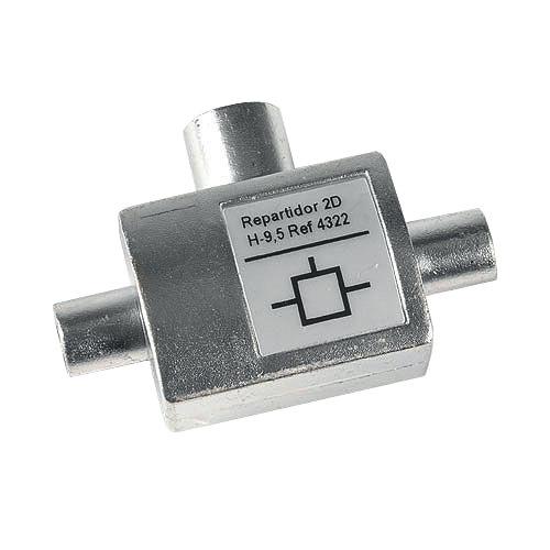 Repartidor en t televés de 9,5 mm sin paso de corriente