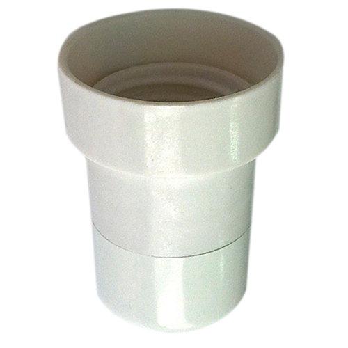 Casquillo e-27 fontini blanco para obra