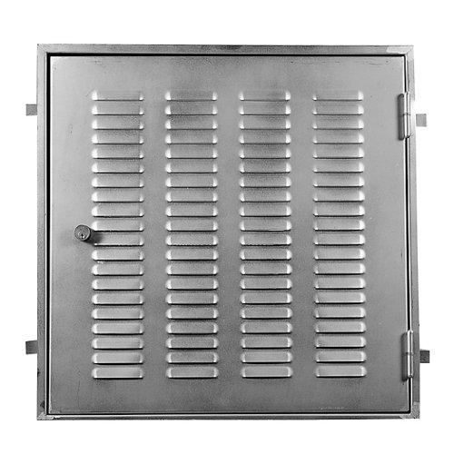 Puerta para registro de ascensor de acero galvanizado 65x65cm