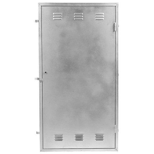 Puerta para registro eléctrico de acero galvanizado 76x126cm