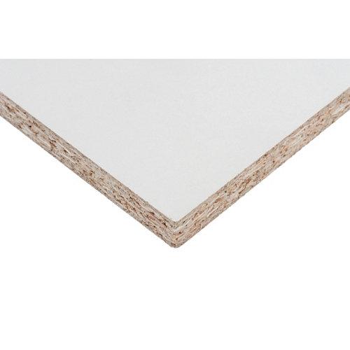 Tablero aglomerado en melamina blanco de 40x80x1,6 cm (anchoxaltoxgrosor)