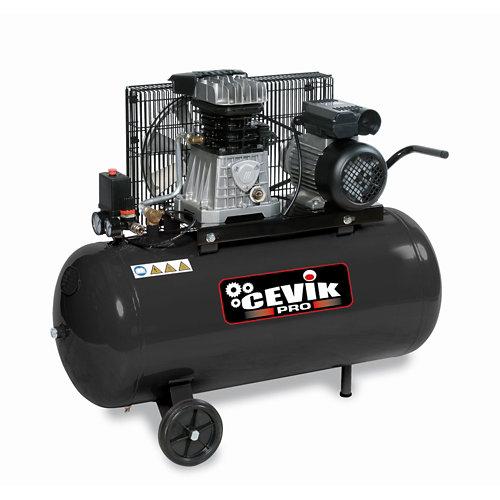 Compresor correas cevik pro ca-ab100/3m de 3 cv y 100l de depósito