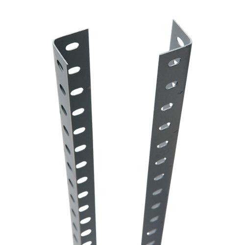 Perfil en ángulo acero gris 3,5x200 cm con tornillos