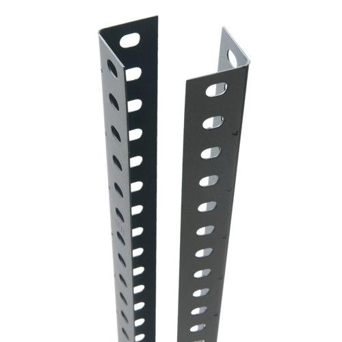 Perfil en ángulo para estanteria acero gris 4x250 cm con tornillos