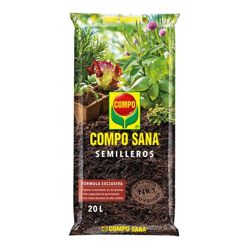 Sustrato semilleros para siembra y esqueje compo sana de todo tipo de planta 20l