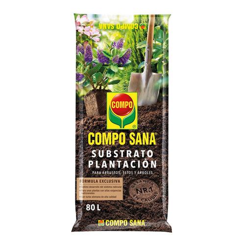Sustrato para plantación compo sana idóneo para arbustos, setos y árboles 80l