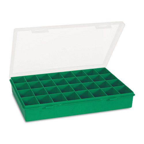 Estuche para tornillos de 33x5,4x24,7 cm con 32 huecos