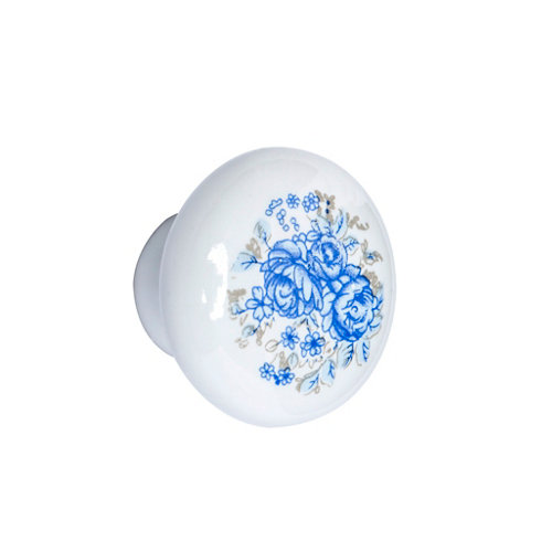 Pomo de mueble de porcelana brillante de 35x35x mm
