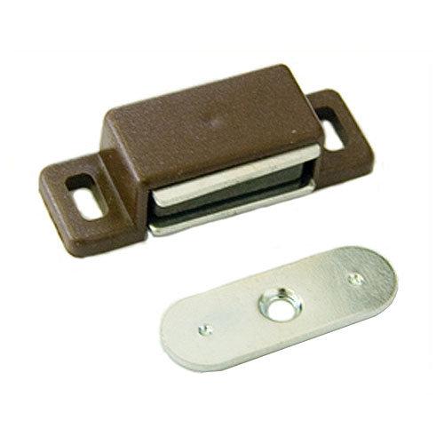 Cierre imán magnético de plástico marrón y 18x15 mm