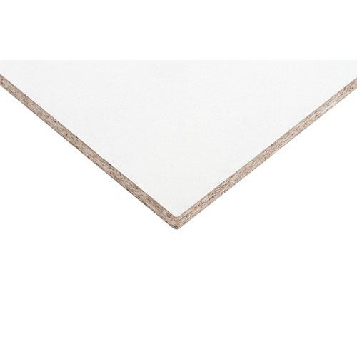Tablero aglomerado en melamina blanco de 60x120x1 cm (anchoxaltoxgrosor)