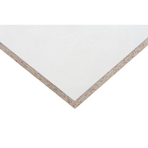 Tablero aglomerado en melamina blanco de 60x120x1,6 cm (anchoxaltoxgrosor)