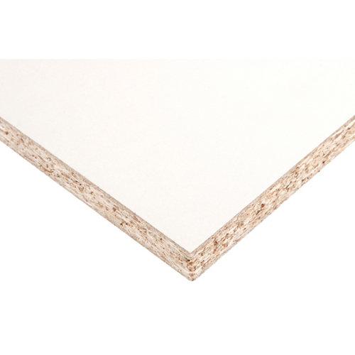 Tablero aglomerado en melamina blanco de 60x120x1,9 cm (anchoxaltoxgrosor)