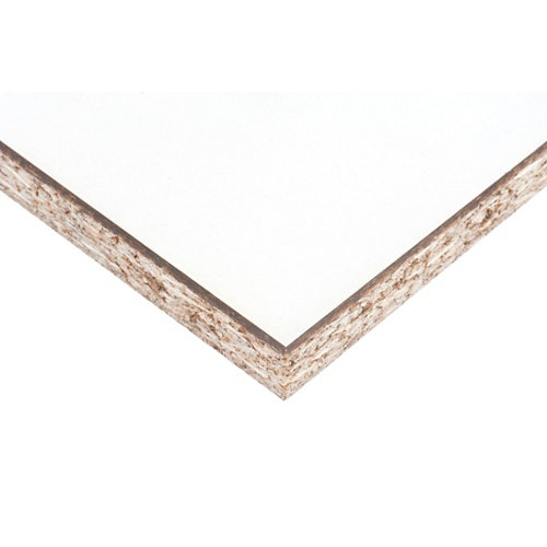 Tablero aglomerado en melamina blanco de 30x60x1,6cm (anchoxaltoxgrosor)