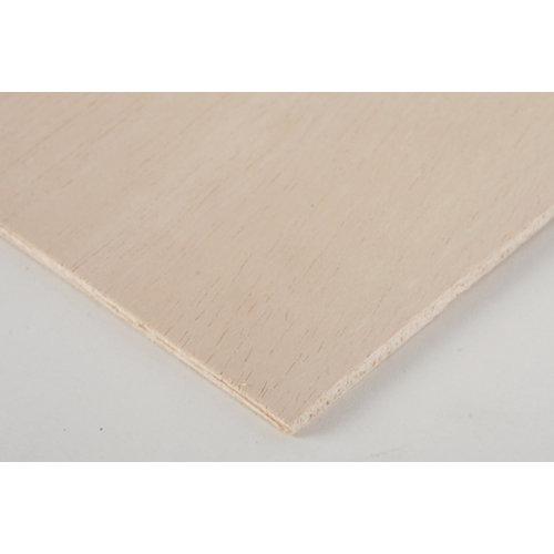 Tablero de contrachapado crudo 30x60x0,5 cm (anchoxaltoxgrosor)