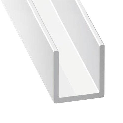 Perfil forma u de aluminio en bruto lacado