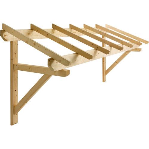 Marquesina de madera de abeto 120x310 cm