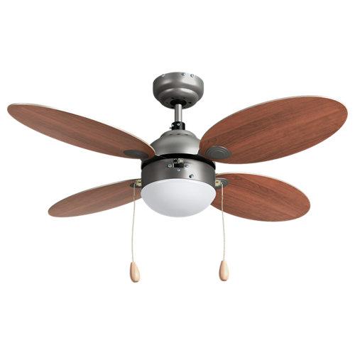 Ventilador de techo con luz inspire maurice marrón 106 cm motor ac