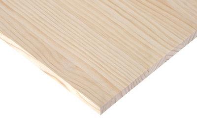 Tablero macizo de pino de 25x240x1,8 cm
