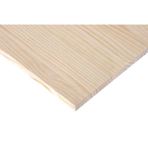 Tablero macizo de pino de 60x240x1,8 cm