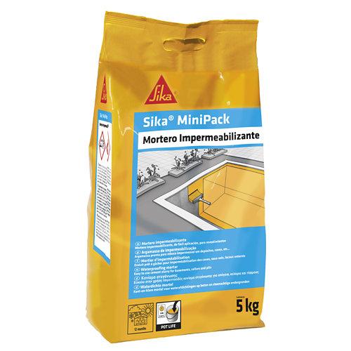 Mortero sika minipack impermeabilizante 5 kg
