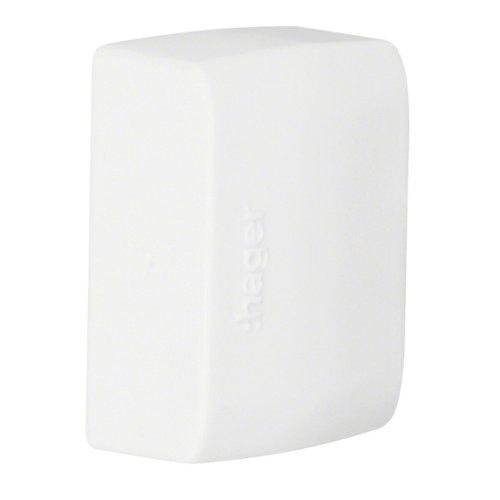 Pack de 2 tapas finales tehalit blancas 12x30 mm