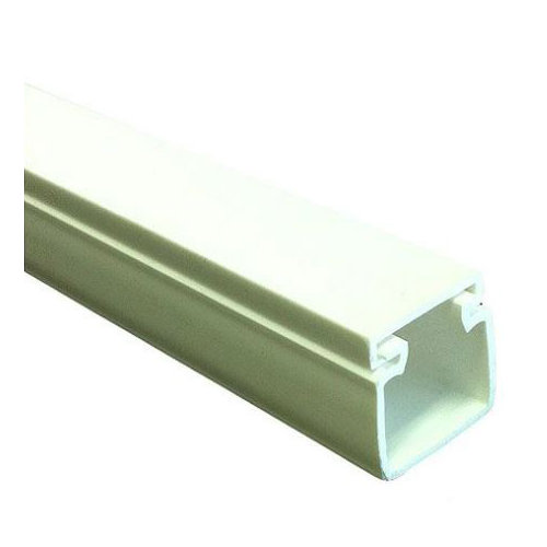 Canaleta tehalit blanca 15x15 mm de 2 metros